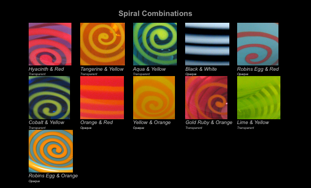 Color Chart spirals