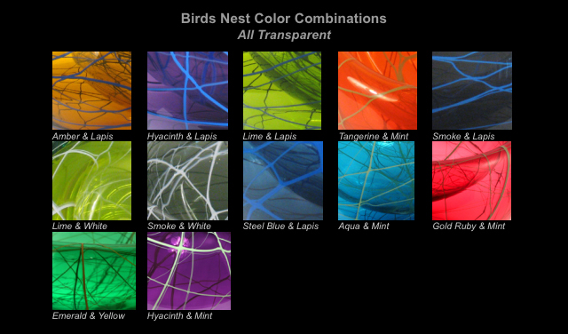 color chart Birds