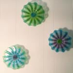 Wall Flower triptych